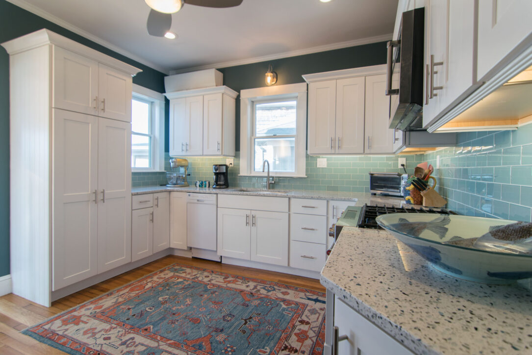 Dartmouth Seafoam  Tile Kitchen and Dining area Remodel