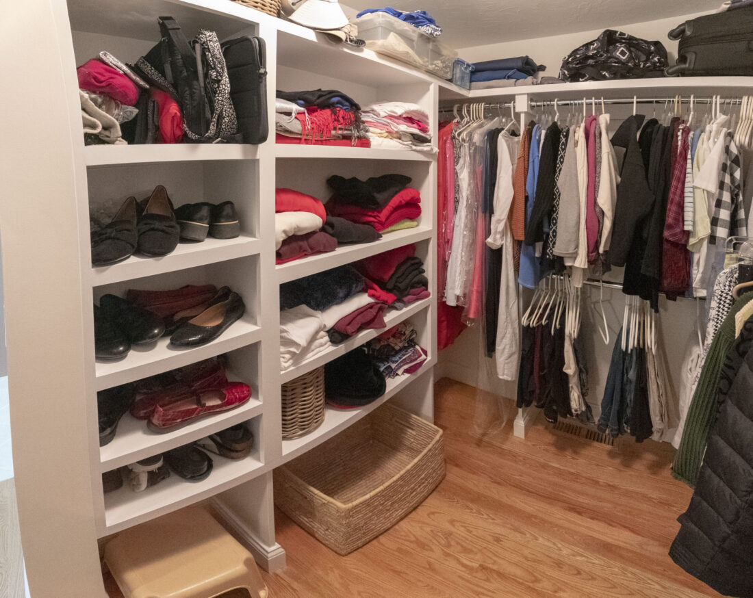 custom closet included in home remodel