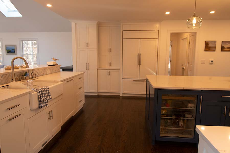 eastham kitchen remodel with custom cabinets